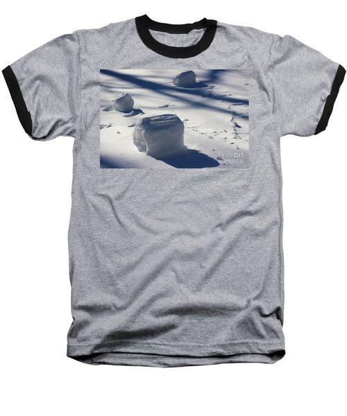 Snow Roller Trio In Shadows Baseball T-Shirt
