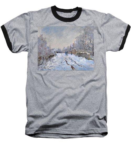 Snow Scene At Argenteuil Baseball T-Shirt