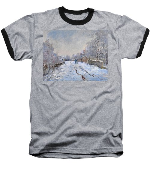 Snow Scene At Argenteuil Baseball T-Shirt
