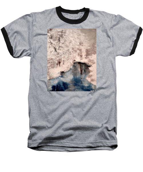 Baseball T-Shirt featuring the painting Winter Wonderland by Denise Tomasura