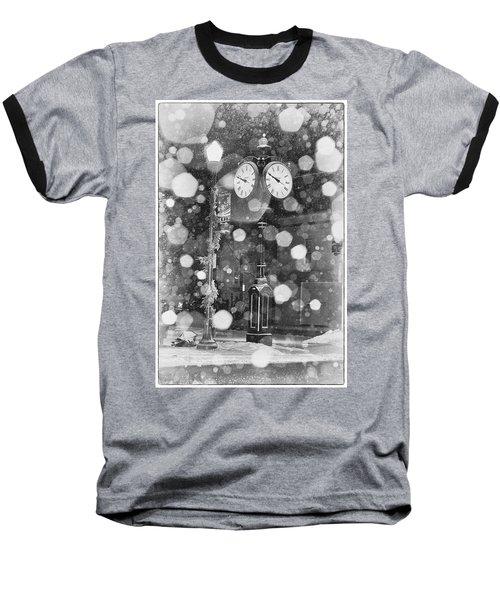Snow Time Holly Michigan Baseball T-Shirt