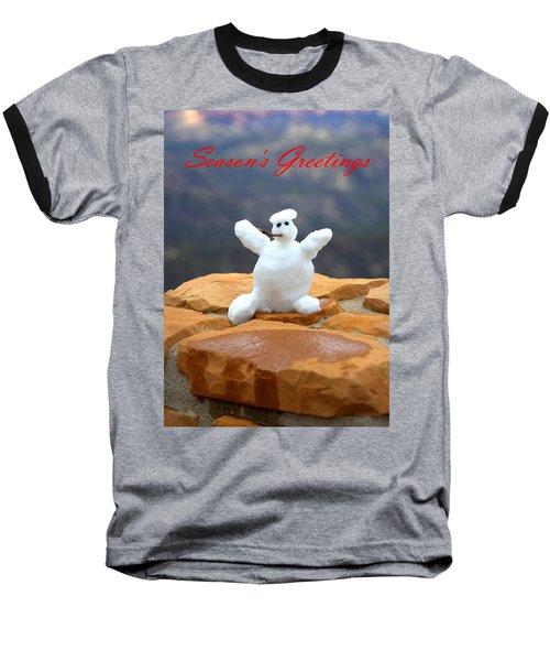 Snowball Snowman Baseball T-Shirt