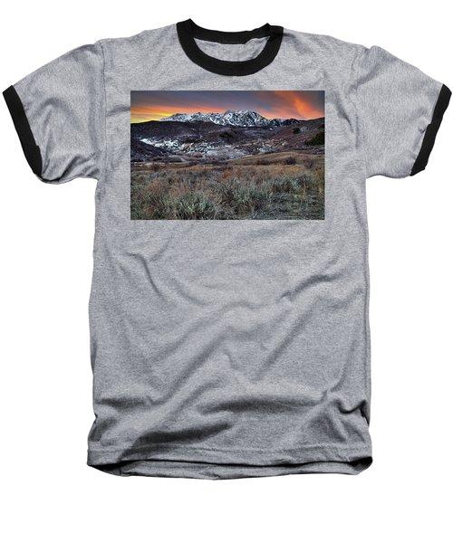 Snowbasin Fire And Ice Baseball T-Shirt