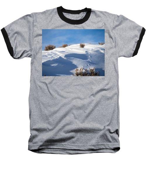 Snowdrifts Baseball T-Shirt by Nadja Rider