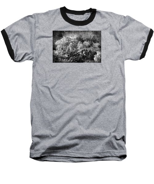 Baseball T-Shirt featuring the photograph Snowfall In The Desert by Phyllis Denton
