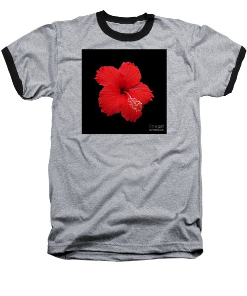Baseball T-Shirt featuring the photograph Snowflake Hibiscus by Judy Whitton