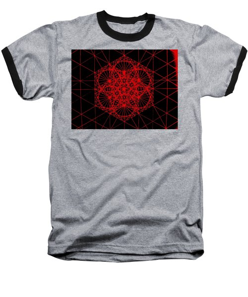 Baseball T-Shirt featuring the drawing Snowflake Shape Comes From Frequency And Mass by Jason Padgett