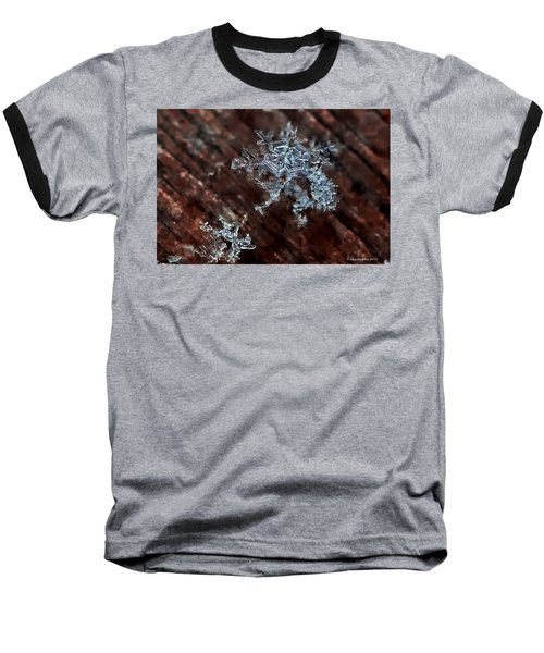 Snowflake Baseball T-Shirt by Suzanne Stout