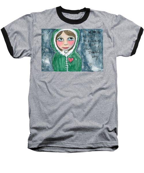 Snowflakes Baseball T-Shirt
