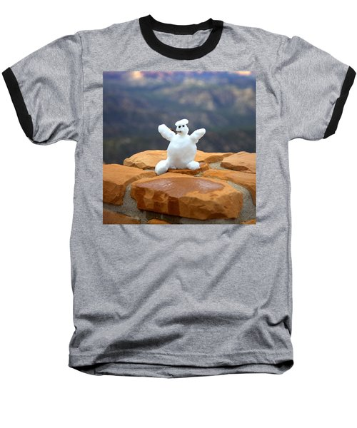 Snowman At Bryce - Square Baseball T-Shirt