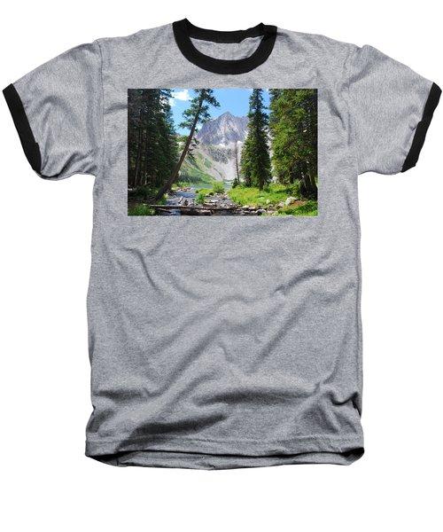 Snowmass Peak Landscape Baseball T-Shirt