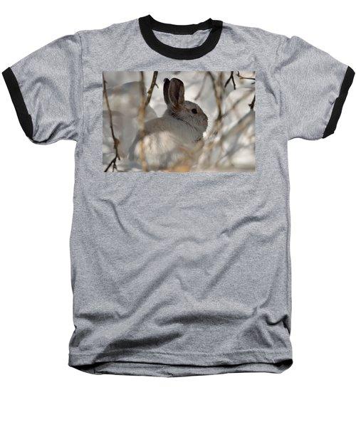 Snowshoe Hare Baseball T-Shirt