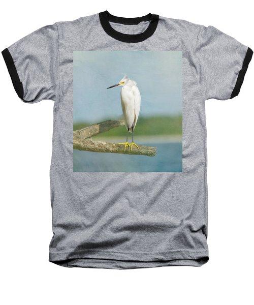 Snowy Egret Baseball T-Shirt