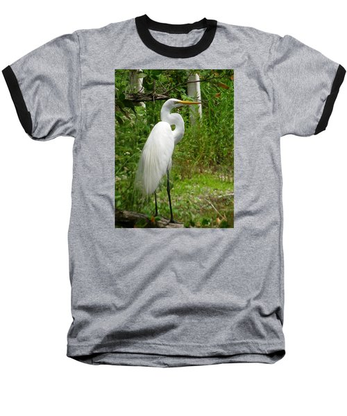 Baseball T-Shirt featuring the photograph Snowy Egret by Melinda Saminski