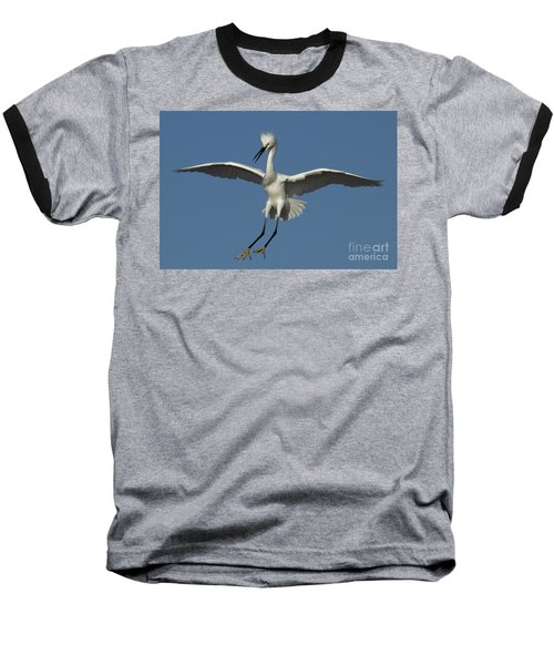 Baseball T-Shirt featuring the photograph Snowy Egret Photo by Meg Rousher