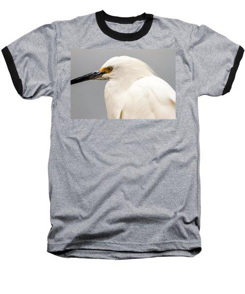 Snowy Egret Profile Baseball T-Shirt