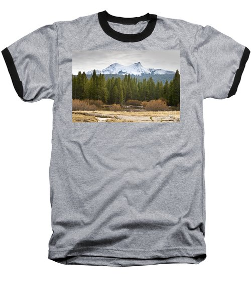 Baseball T-Shirt featuring the photograph Snowy Fall In Yosemite by David Millenheft