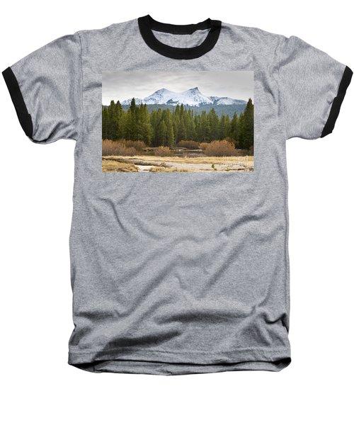 Snowy Fall In Yosemite Baseball T-Shirt by David Millenheft