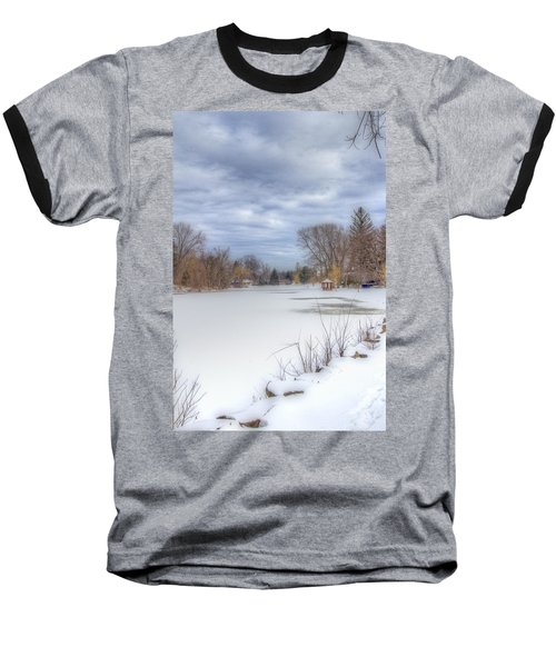 Snowy Lake Baseball T-Shirt