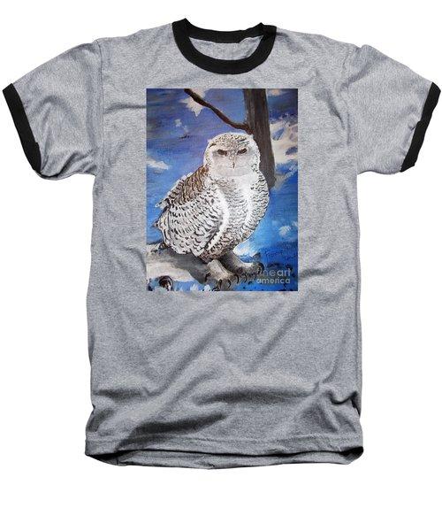 Snowy Owl . Baseball T-Shirt by Francine Heykoop