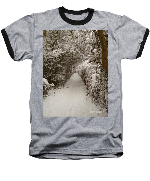 Baseball T-Shirt featuring the photograph Snowy Path by Vicki Spindler