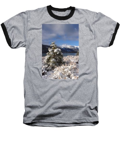 Snowy Pine  Baseball T-Shirt