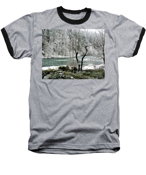 Baseball T-Shirt featuring the photograph Snowy River And Bank by Belinda Greb