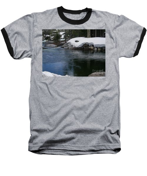 Baseball T-Shirt featuring the photograph Snowy River Bend by Bobbee Rickard