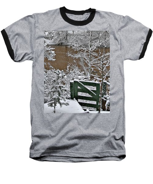 Snowy River Gate Baseball T-Shirt