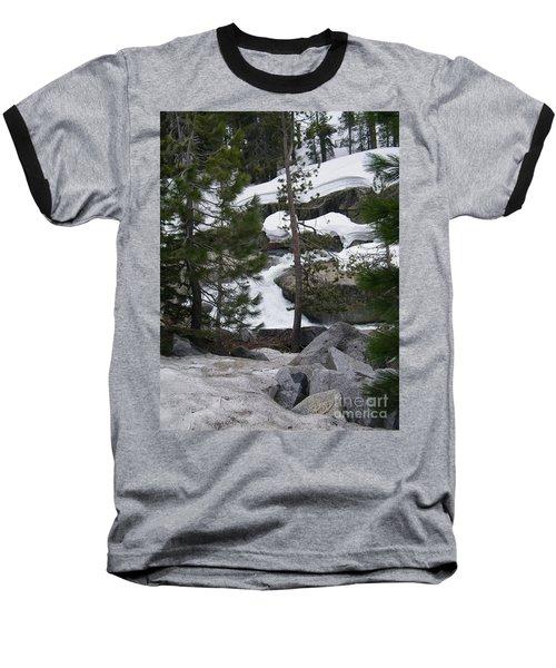 Baseball T-Shirt featuring the photograph Snowy Sierras by Bobbee Rickard