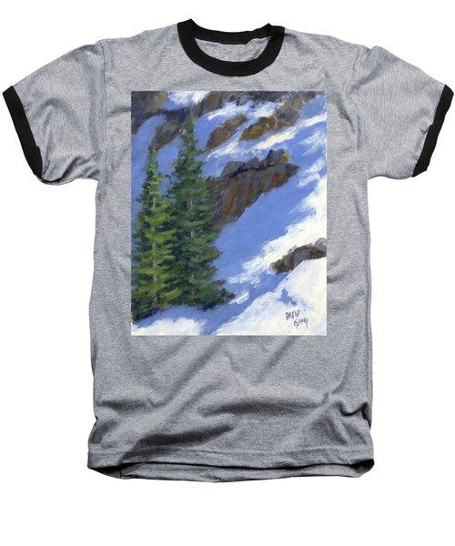 Snowy Slope Baseball T-Shirt