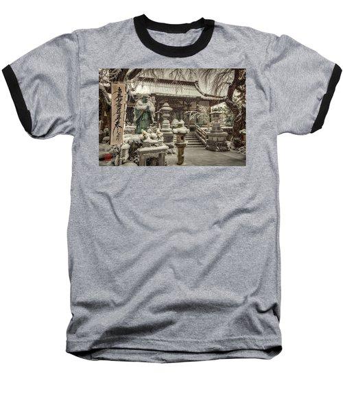 Snowy Temple Baseball T-Shirt