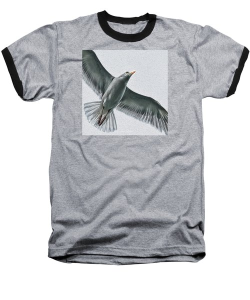 Soaring High Baseball T-Shirt by Enzie Shahmiri