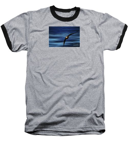 Soaring Over Water Baseball T-Shirt