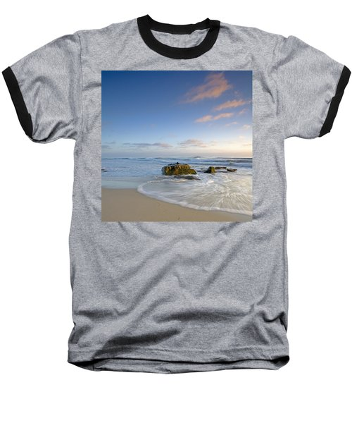 Soft Blue Skies Baseball T-Shirt by Peter Tellone