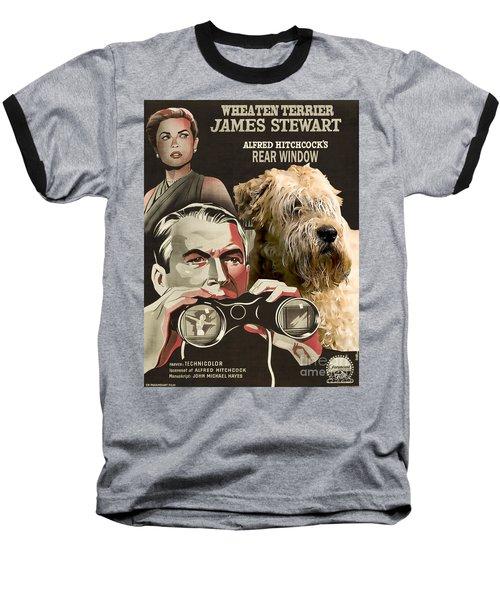 Soft-coated Wheaten Terrier  - Wheaten Terrier Art Canvas Print - Rear Window Movie Poster Baseball T-Shirt