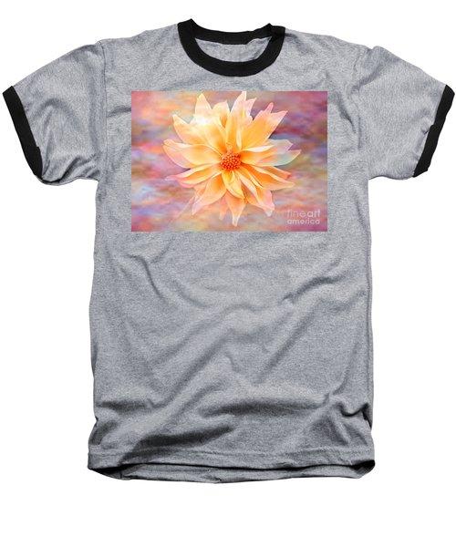 Baseball T-Shirt featuring the photograph Soft Delightful Dahlia by Judy Palkimas