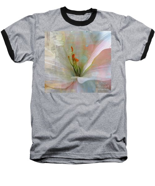 Soft Painted Lily Baseball T-Shirt by Judy Palkimas