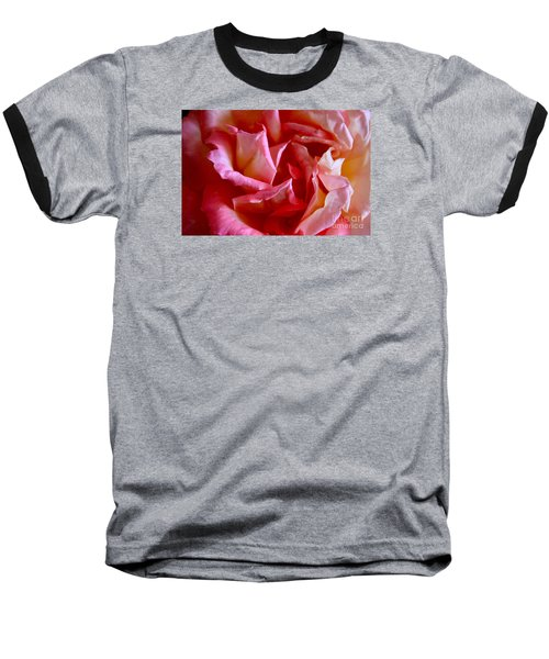Baseball T-Shirt featuring the photograph Soft Pink Petals Of A Rose by Janice Rae Pariza