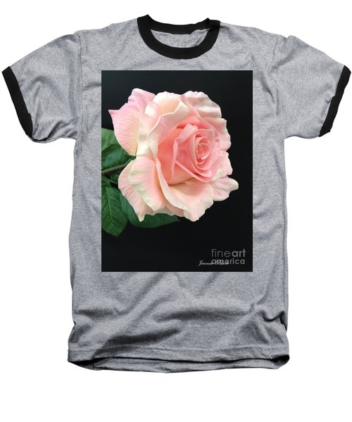 Baseball T-Shirt featuring the photograph Soft Pink Rose 1 by Jeannie Rhode