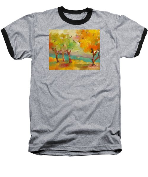 Baseball T-Shirt featuring the painting Soft Trees by Michelle Abrams