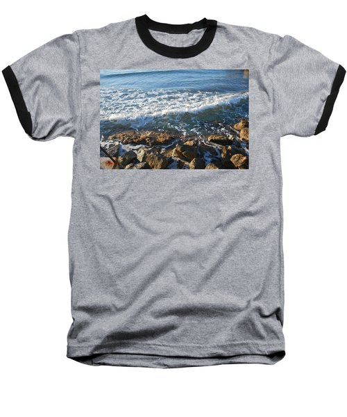 Soft Waves Baseball T-Shirt by George Katechis