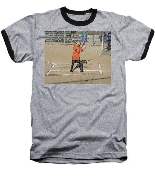 Softball Star Baseball T-Shirt by Michael Porchik