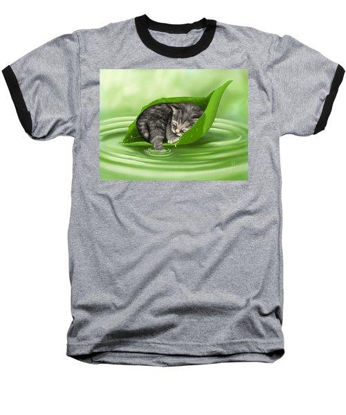 Softly Lulled Baseball T-Shirt by Veronica Minozzi