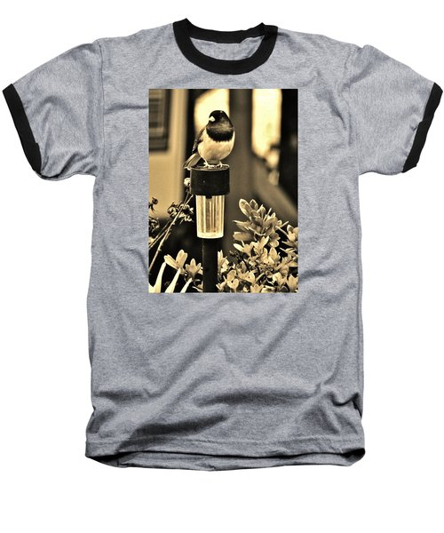 Baseball T-Shirt featuring the photograph Solar Light Sitting by VLee Watson