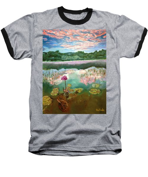 Solitary Bloom Baseball T-Shirt