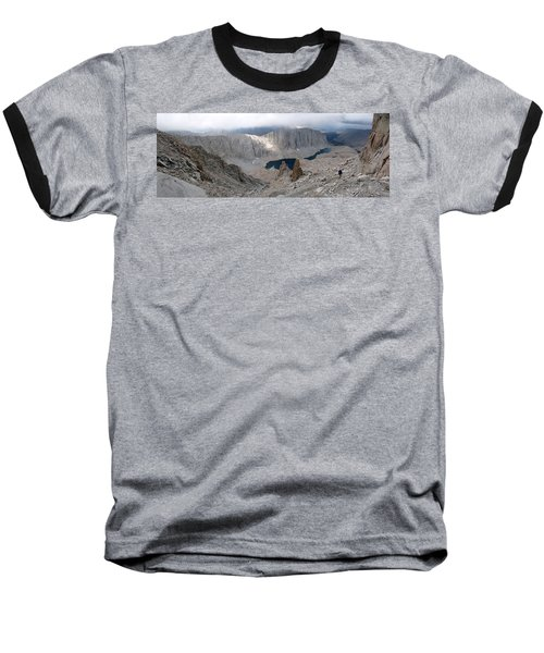Solitary Hiker Panorama Baseball T-Shirt