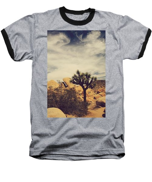Solitary Man Baseball T-Shirt by Laurie Search