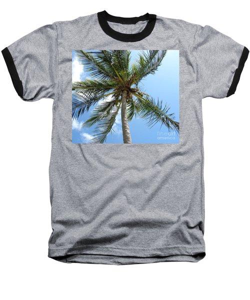 Solitary Palm Baseball T-Shirt