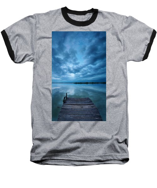 Solitary Pier Baseball T-Shirt by Davorin Mance